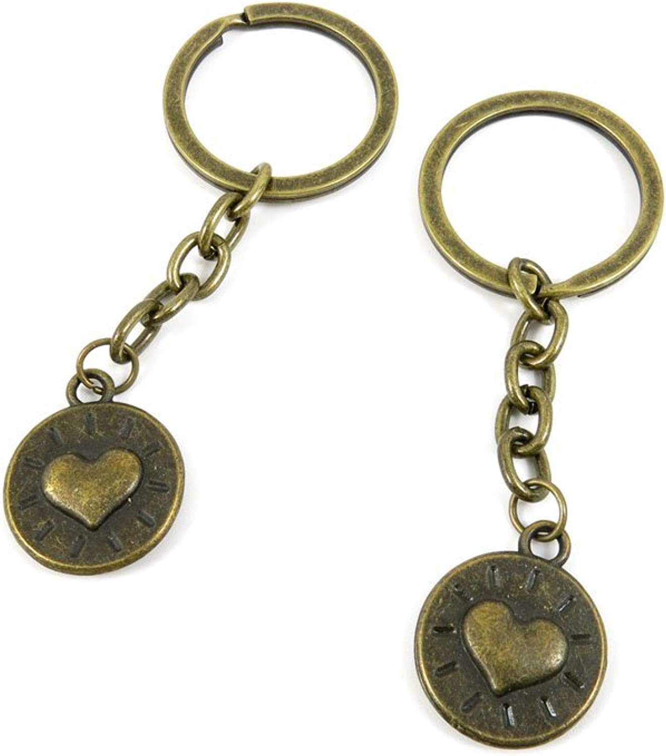 150 Pieces Fashion Jewelry Keyring Keychain Door Car Key Tag Ring Chain Supplier Supply Wholesale Bulk Lots K5TG5 Heart Sign Tag