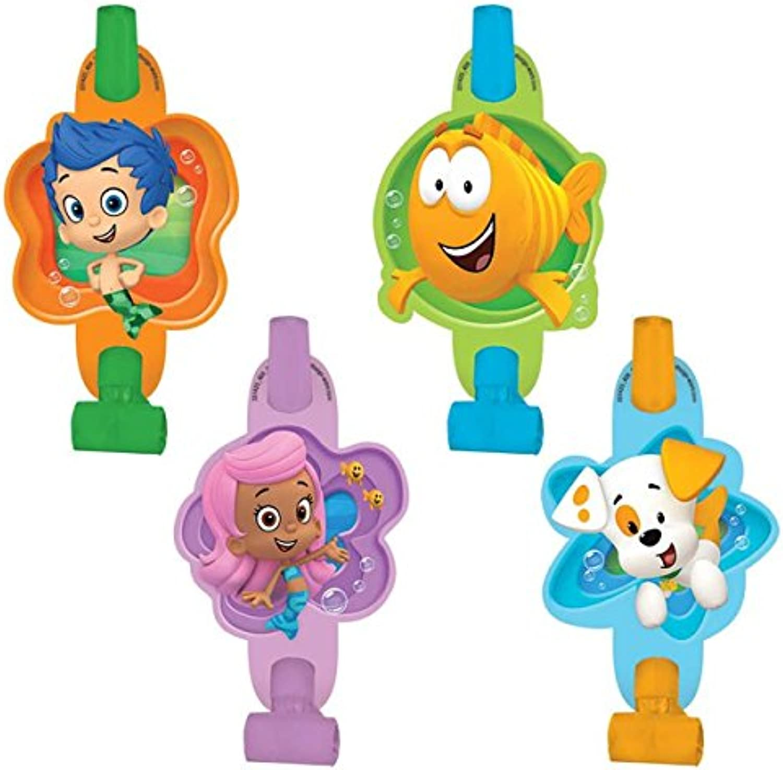 Amscan Adorable Bubble Guppies Blowouts Set (8 Piece), Grün Blau lila Orange by Amscan