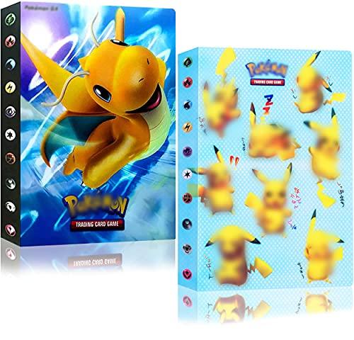 Álbum Cromos Album Pokemon Cards para Fundas Cartas Carpeta Titular Tarjetas Álbum...