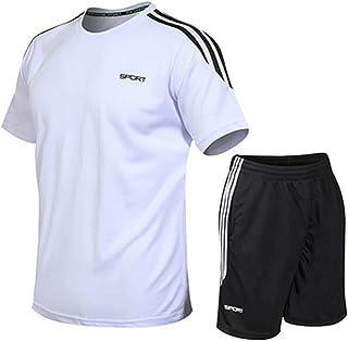 تي شيرت صيفي للياقة البدنية، ملابس رياضية غير رسمية، بدلة تي شيرت كاجوال، ملابس رياضية سريعة الجفاف للرجال (مقاس : 5XL)