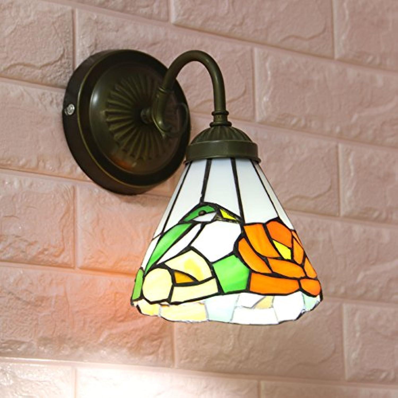 PLLP Beleuchtung Schlafzimmer Nachttisch Wohnzimmer Esszimmer Gang Treppenhaus Balkon Pastorale Spiegel Lampe,1