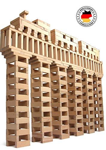 160-1.000 Holzbausteine Natur + 1 Baumpflanzung, 100 % Made in Ravensburg, Kinder Ab 3 Jahren, Bauklötze groß Bausteine aus Holz Holzbaukasten