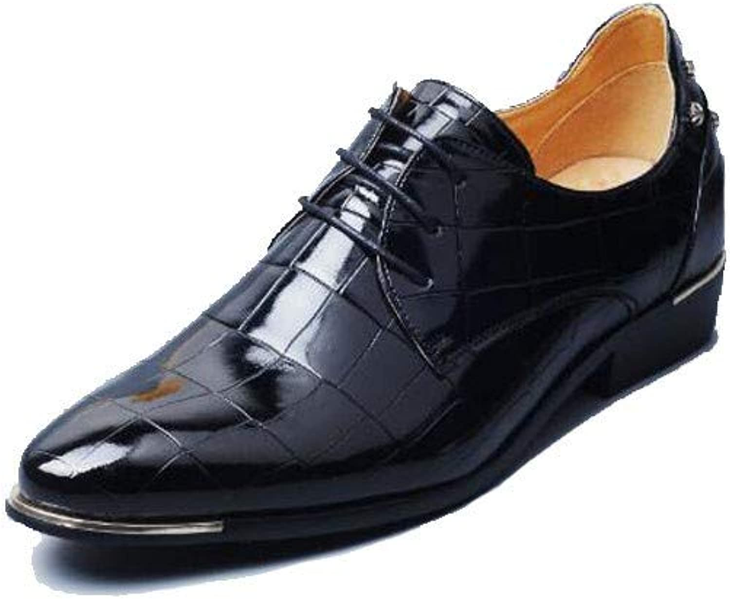 Jiang-ZX Men's shoes,Men's Leather shoes Men's Trend Business Dress Korean Version Of The British Pointed
