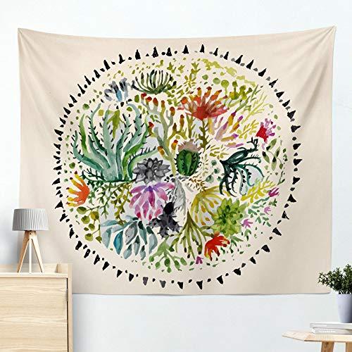 xkjymx Colgar en la Pared Colgante Decorativo Tapiz Cactus cojín Toalla de Playa R005-B 130 * 150 cm