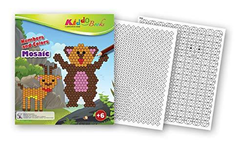 QuackDuck Libro da colorare Mosaic – Color by Number – Dipingere con i numeri su sfondo colorato – Blocco da colorare per bambini a partire dai 6 anni (5039)