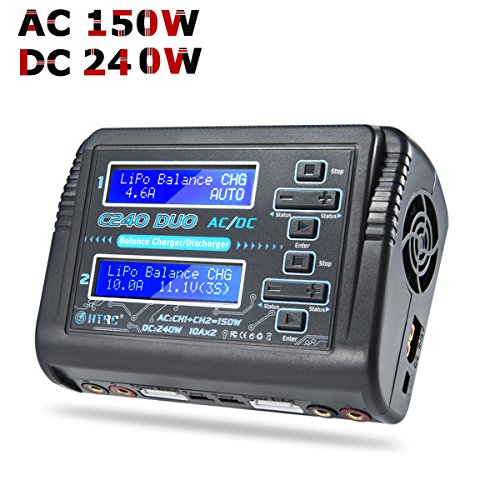 Haisito LiPo Charger Dual 1-6S Balance Battery Discharger Duo C240 AC150W DC240W...