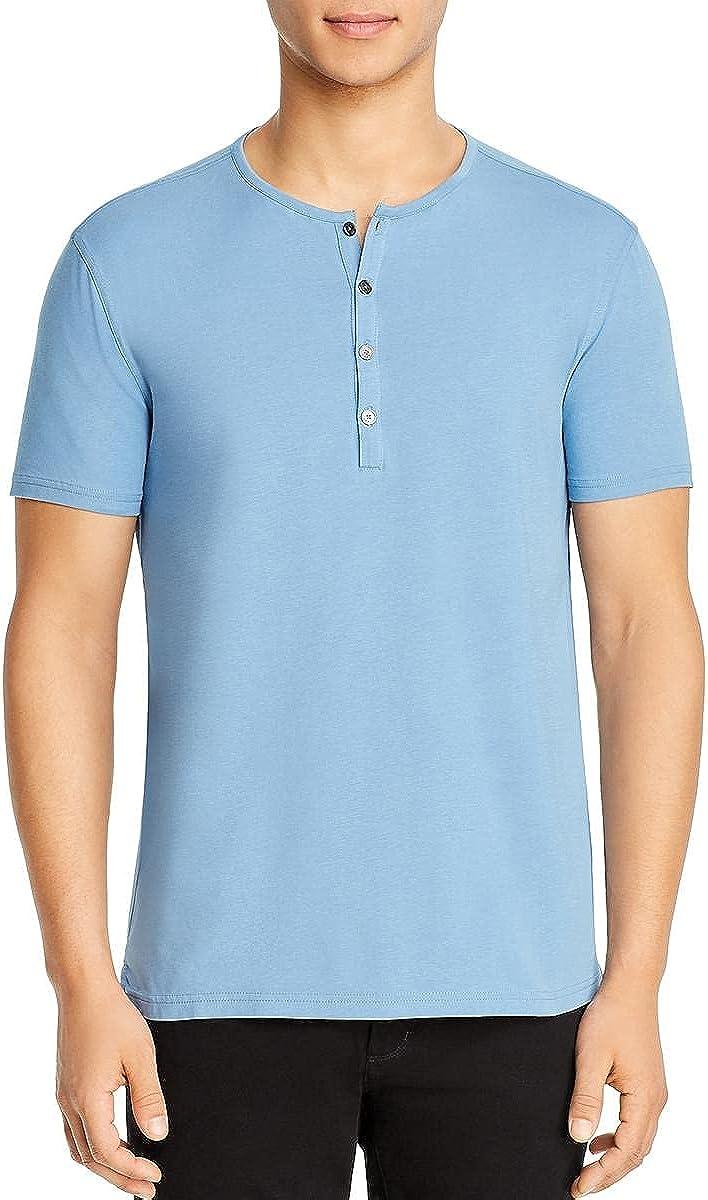 John Varvatos Star USA Mens Short Sleeve Crewneck Henley Shirt