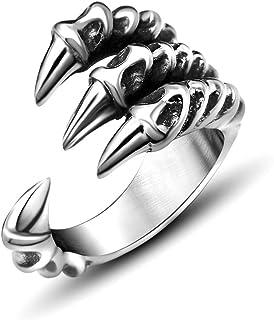 أزياء خمر النساء الرجال افتتاح النسر تالون خواتم الغموض مجوهرات القوطية الشرير العتيقة مخلب النسر مجوهرات الدائري