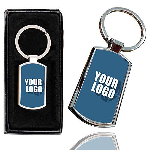 i-Tronixs Schlüsselanhänger/Schlüsselanhänger mit Text und Foto-Design, personalisierbar, Bild, Logo-Text