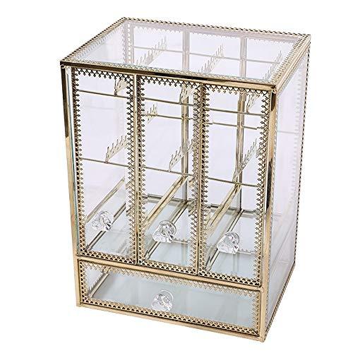 GHKT Caja de Soporte de exhibición cosmética Caja de Acabado de la joyería de la Princesa Caja de Almacenamiento de la Caja del Anillo del Anillo del Anillo Vestir