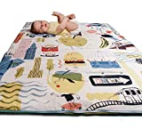 Manta de actividades para bebés acolchada