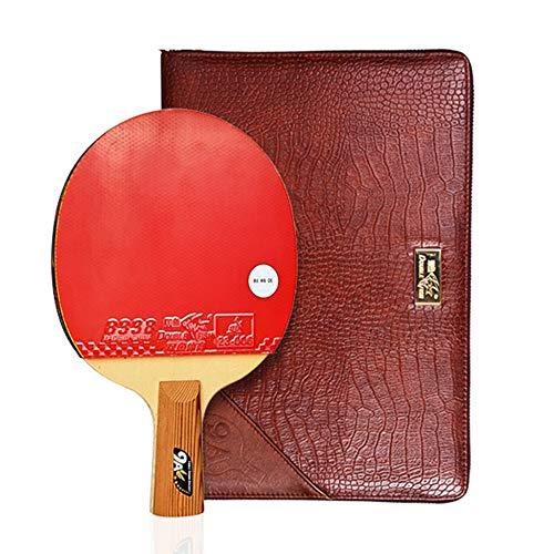 XGGYO Profesional Palas Tenis Mesa, Pala de Ping Pong 5-9 Star, para Principiante/intermedios/Ofensivos/Competencia / 9 Stars/mango corto