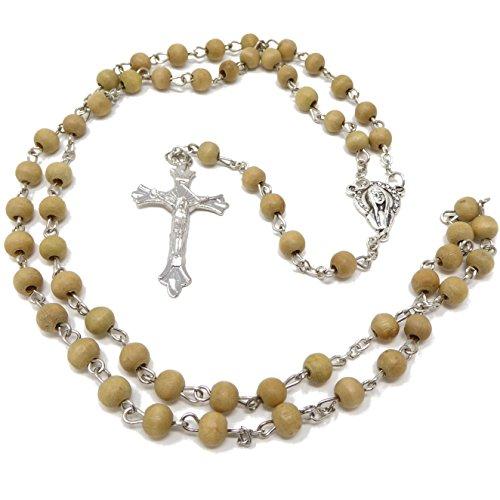 Mittlere braun Holz Runde Perlen Rosenkranz Perlen 55cm Länge Männer oder Frauen