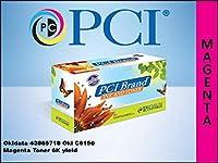 プレミアム互換機43865718-pci PCI OKIDATA 43865718C6150マゼンタトナー6K平均ページYield at 5% Coverage