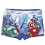 Marvel Boy's Avengers Swim Shorts Trunk Swimwear (Multicolour, 8-10 Years)