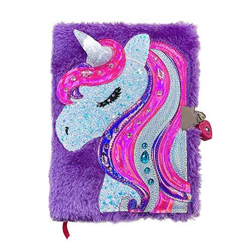 PowerKing Diario para Niñas, Unicornio Diario Cuaderno Escolar con Cerradura para Niños y Niños, Color Unicornio lácteo. (Diario-Unicornio)