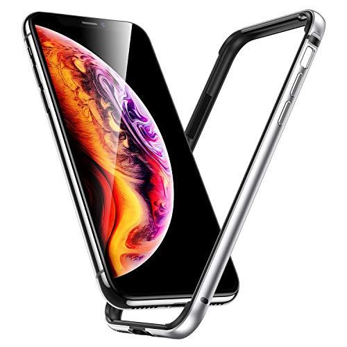 """ESR Funda para iPhone XS/X, Bumper Aluminio iPhone XS/X con Suave TPU Interno [No Afecta Señales] [Protección de Borde Elevado] Bumper Frame para Apple iPhone XS/X de 5.8""""-Plata"""