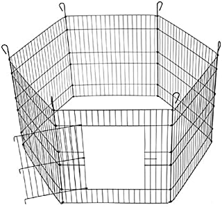 """AQUAPETZWORLD 24"""" X 24"""" Dog and Puppy, Rabbit, Cats Exercise Dog Play Pen Outdoor Back or Front Yard Fences Cage Pen Pet P..."""