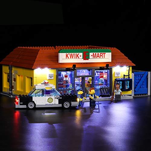 UUK Kit de luz LED Compatible con Lego 71016, Juego de iluminación para Creator City Street 16004 Simpsons Kwik-e-Mart Building Blocks Decorative Juguetes para niños y Adultos (no Incluyen el Modelo)