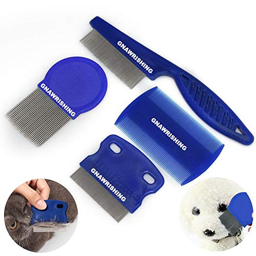 GNAWRISHING Flea Comb 4Pcs