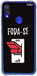 Capa Anti-Impacto Personalizada para Redmi Note 7 - Foda-Se, Husky, Capa Protetora para Celular, Colorido