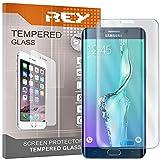 REY [Lot de 2] Protecteur d'écran 3D pour Samsung Galaxy S6 Edge Plus - Edge+, Transparent, Verre...