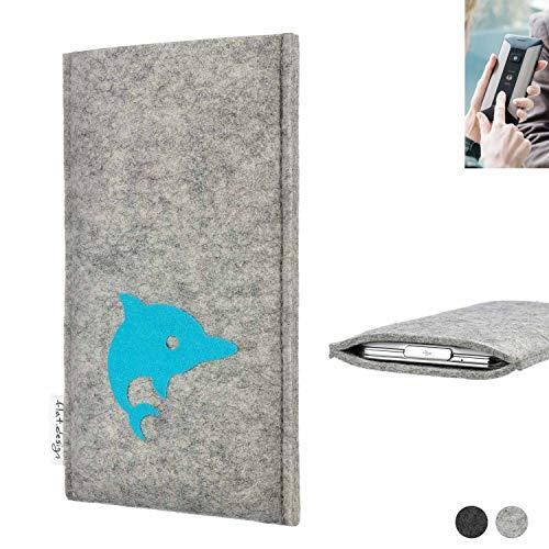 flat.design Handy Hülle für Planet Computers Cosmo Communicator FARO mit Delphin handgefertigte Filz Tasche fair