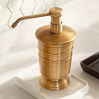 HNLY Artículos de tocador Artículos de tocador de Cobre de Estilo Vintage, dispensadores de jabón de Metal, Porta cepillos de Dientes, Tazas de Enjuague bucal, Accesorios de baño
