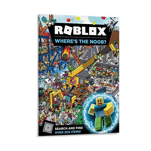 QPPP Roblox Game Art - Póster decorativo para pared, 60 x 90 cm