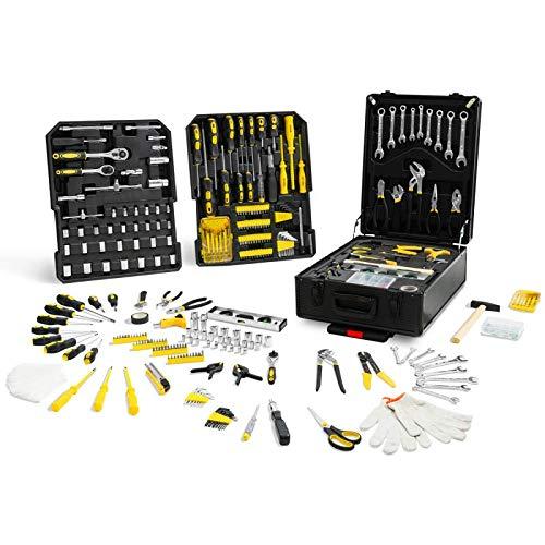 IDMarket - Mallette valise outils aluminium avec roulettes...