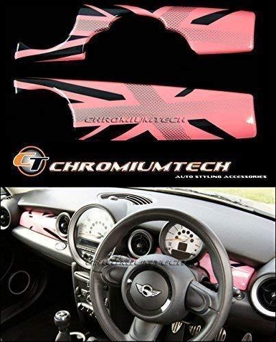 Mini Cooper//S//ONE R52 R55 R56 R57 R60 rouge vif intérieur coque retroviseur