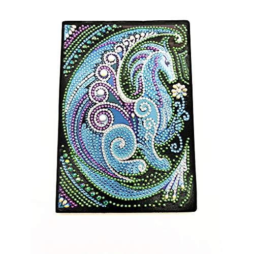 Rongzou Diamant Schilderen Naaldwerk Draak DIY Speciaal Gevormde A5 Notebook Dagboek Art Home Decor