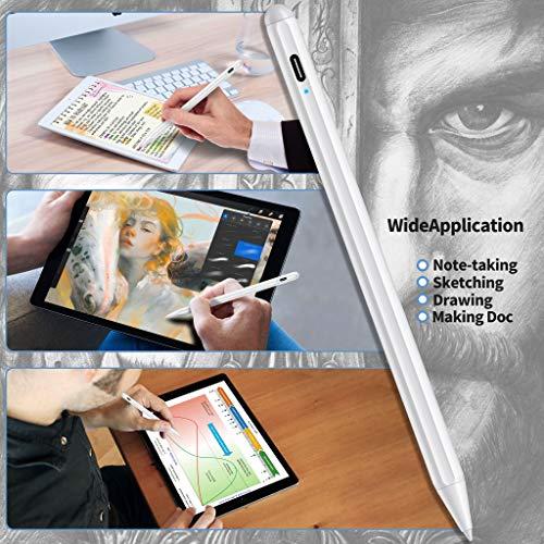 MPIO Stylus Stift 2. Generation mit Palm Rejection für Apple iPad 2018-2020, Feine Spitze, Hochpräziser Bleistift zum Zeichnen, Schreiben auf iPad 8/7/6, Air 3/4, Mini 5, Pro 11(1./2.)/12.9(3./4.)