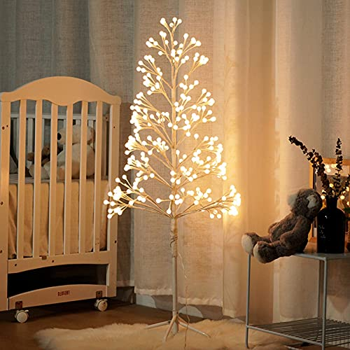 WECDS Control Remoto Starlight Tree Árbol de Navidad Artificial preiluminado Cadena de Luces LED 8 Especies Modos de luz USB Home Festival Jack Party Navidad Estilo japonés Uso en Interiores