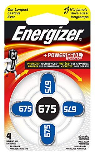 Energizer ENZINCAIRC675-4 Batterie per Apparecchi Acustici, Bianco/Azzuro (4 Pezzi)