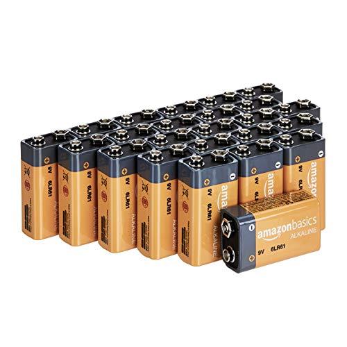 Amazon Basics - Batterie alcaline Everyday da 9 Volt (confezione da 24)