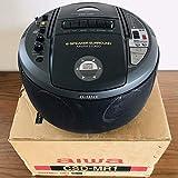 完全動作品 Aiwa CSD-MR1 ブラック 1999年購入 CDラジカセ 6スピーカー LEDイルミネーション 搭載 アイワ カセット 黒