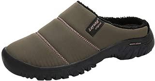 Kiyotoo - Zapatillas de casa con Forro de Piel sintética Antideslizante para Interiores y Exteriores