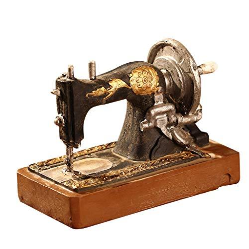 YSMLL Máquina de Coser Retro Modelo de Manualidades Vintage Figuras en Miniatura Resina Craft Nostalgic Decoración del hogar Regalos de cumpleaños
