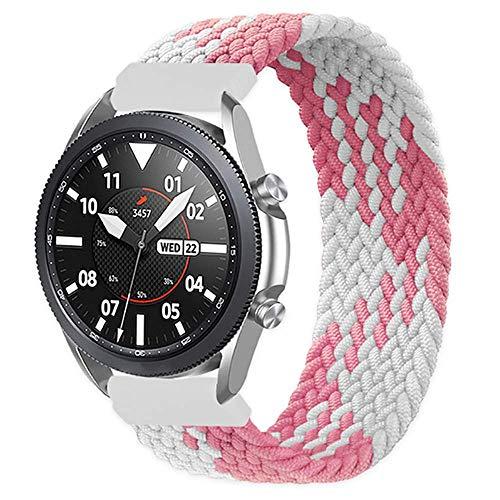 Correa trenzada Solo Loop compatible con Galaxy Watch 3 45 mm/Galaxy Watch 46 mm/Gear S3 pulsera elástica de fibras de silicona trenzadas para deporte H Uawei Watch 2 Classic 22 mm