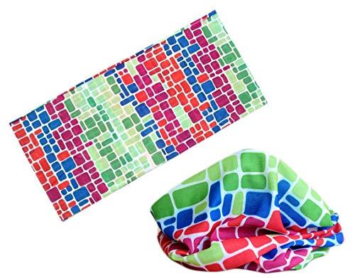 ZREED Multifunktionstuch Schal elastischer Schlauch Magie Stirnband Gamasche Balaclava (Color : P, Size : One Size)