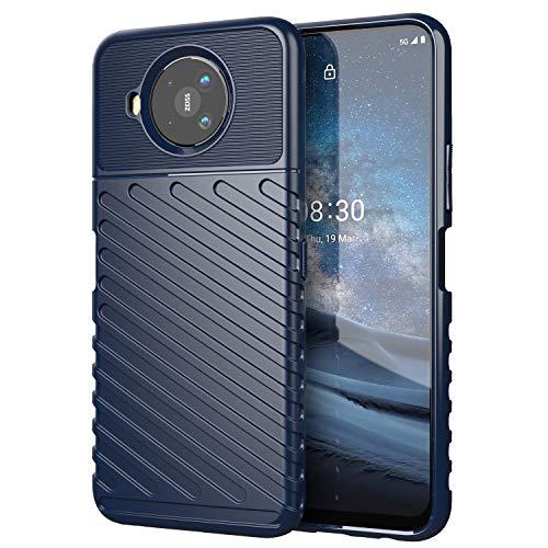 Futanwei Thunderclap Serise Hüllen für Nokia 8V 5G UW Hülle, Nokia 8.3 5G Hülle, [Matte Texture Design] [Military Grade Protection] [Shock-Absorbing] Herren Handy Hülle für Nokia 8V 5G UW, Blau