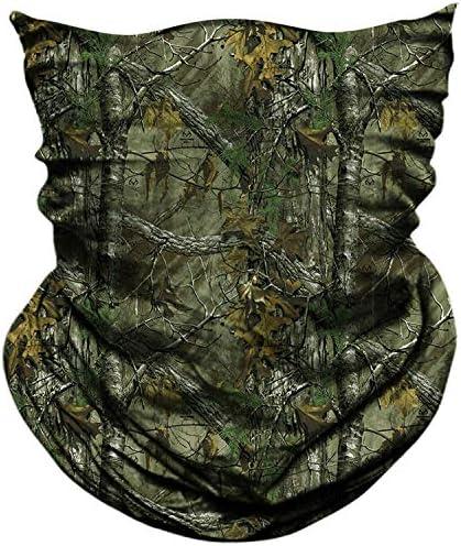 AXBXCX 2 Pack Camouflage Print Seamless Neck Gaiter Bandana Face Shield Mask Headband Headwear product image