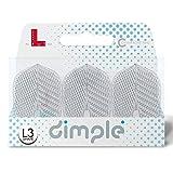 Lstyle l3 pro dimple dart-flights, klein, standardform: geformt, kunststoff und leicht, set ? transparent