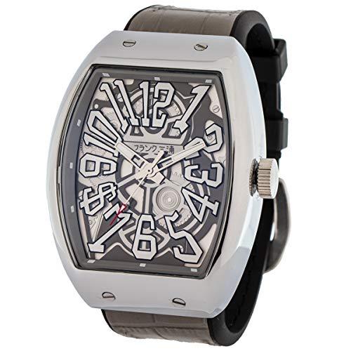 [フランク三浦] 十一号機 頑張るどモデル スケルトンウォッチ 腕時計 スケルトングレー