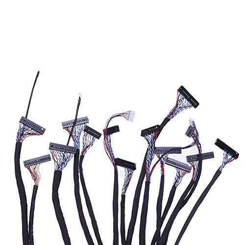 FEIYI Andere Modul-Platine 14 Sets Allgemeine LCD LVDS-Bildschirmkabel für 25,4-165 cm Bildschirm Monitor Reparatur Treiber Board Universal Kabel