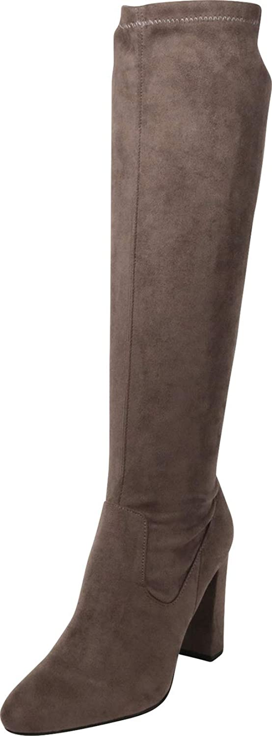 Cambridge Select Women's Closed Toe Chunky Block High Heel Knee-High Boot