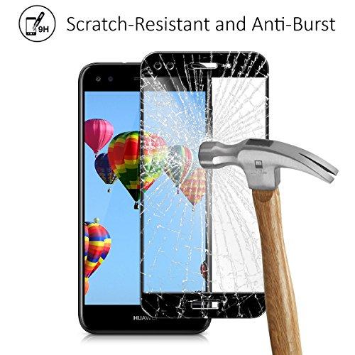 kalibri Huawei Y6 Pro (2017) / Enjoy 7 Folie - 3D Glas Handy Schutzfolie für Huawei Y6 Pro (2017) / Enjoy 7 - Auch für gewölbtes Display - 3