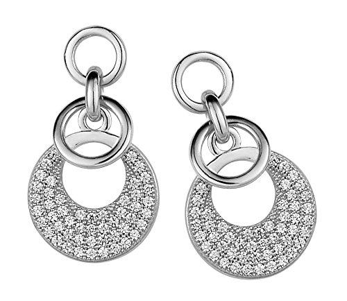 Orphelia Damen-Ohrhänger 925 Sterling Silber rhodiniert Zirkonia weiß ZO-5226
