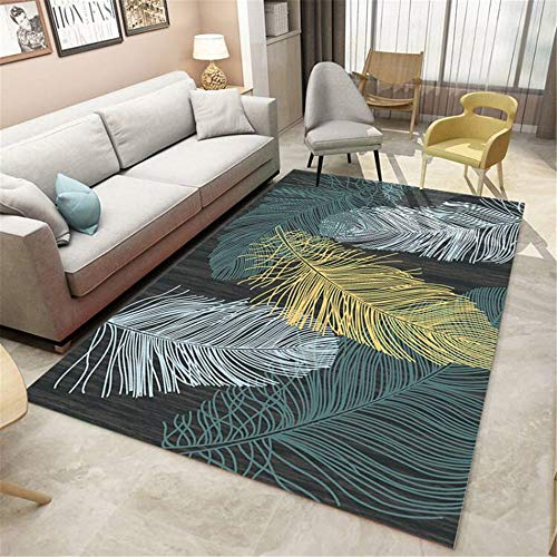 European Modern Minimalist Non-Slip Carpet Geometric Printing Moisture-Proof Mats Living Room Bedroom Bedside Hotel Restaurant Party Mats